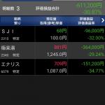 【2016/11/15】ポートフォリオ観測 極楽湯、エナリス、SJI  含み-61万円(-30.87%)